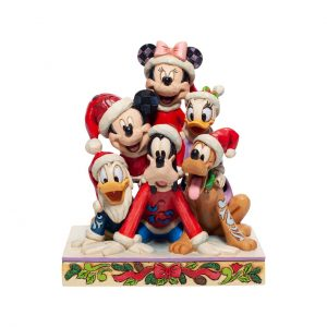 Piled High with Holiday Cheer Mickey Friends Figiurine